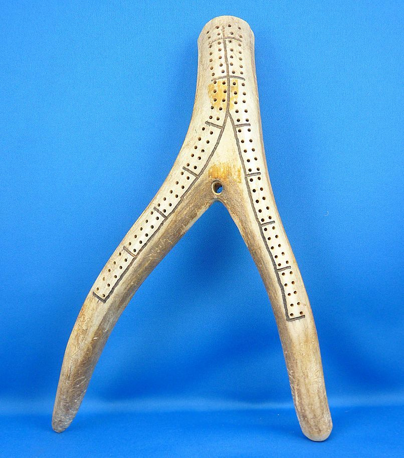 Hand Made Cribbage Board Carved From An Antler Cribbage Cribbage Board Antler Crafts