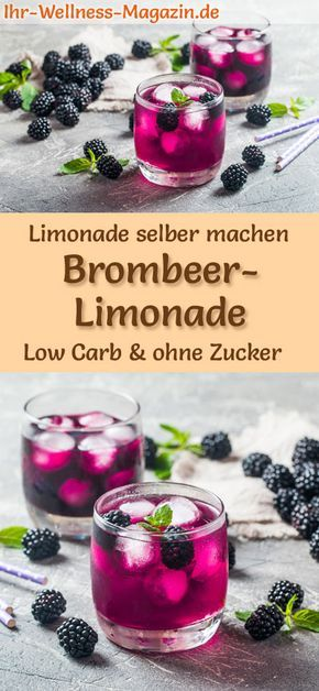 Brombeer-Limonade selber machen - Low Carb & ohne Zucker
