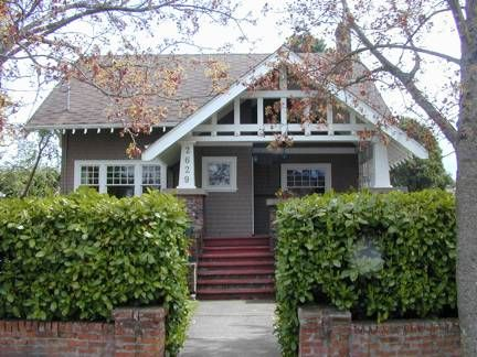 Wood Shingled Exterior Brick Porch Piers And A Heavily Timbered Front Gable All Are Craftsman BungalowsCraftsman