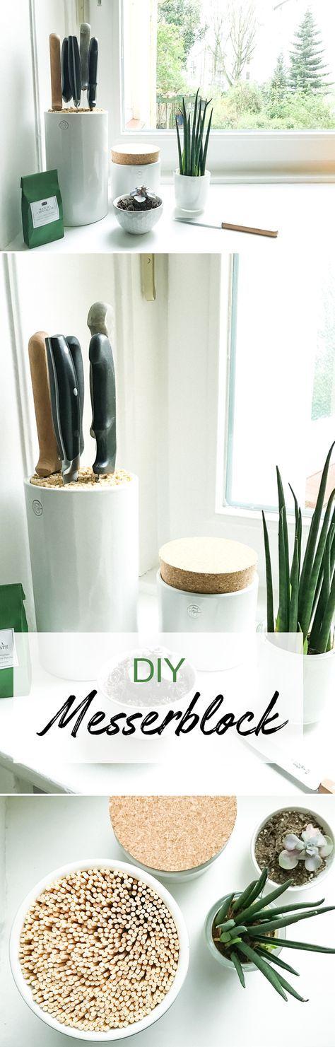 5 minuten diy messerblock selber bauen in 2018 diy deko wohnen pinterest. Black Bedroom Furniture Sets. Home Design Ideas