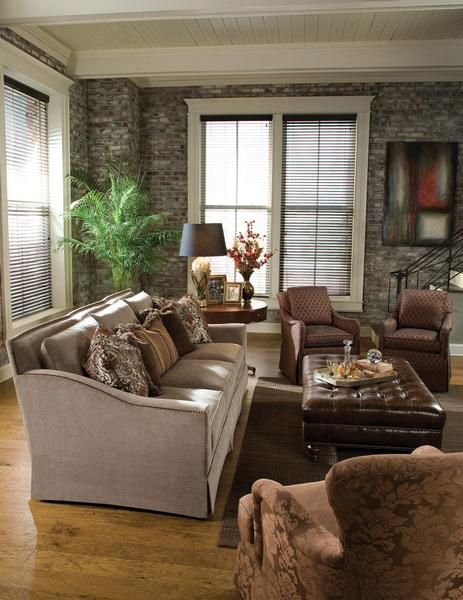 Room Scene From Huntington House #Furniture Featuring The 3366 20 Large  Scale #sofa