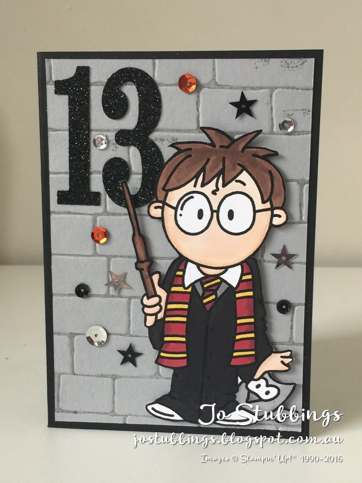 Jos Stamping Spot Magical Harry Potter Birthday Stampin Up