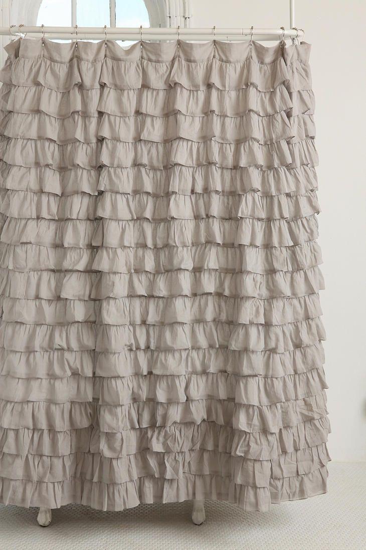 Shower curtain future home pinterest ruffle shower curtains