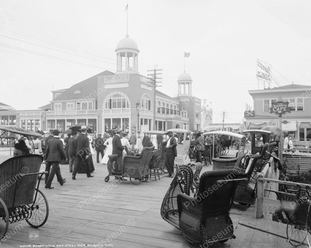 Boardwalk and Steel Pier Atlantic City 1900 Vintage 8x10 Reprint of Old Photo | eBay