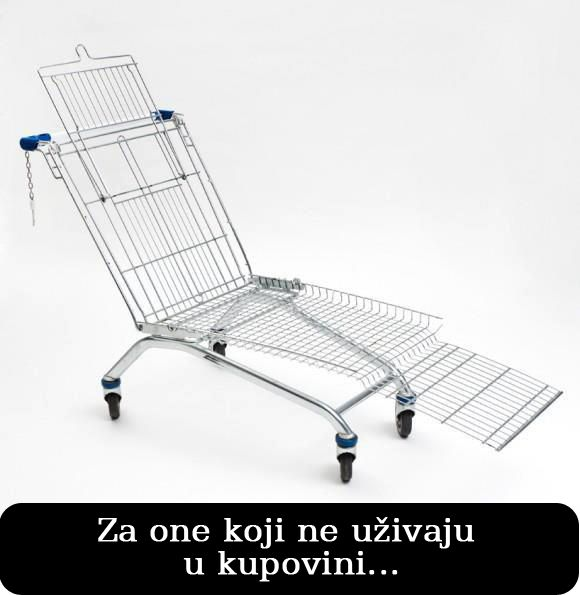 Lezis A Ides Shopping Cart Lounger Recycled Furniture