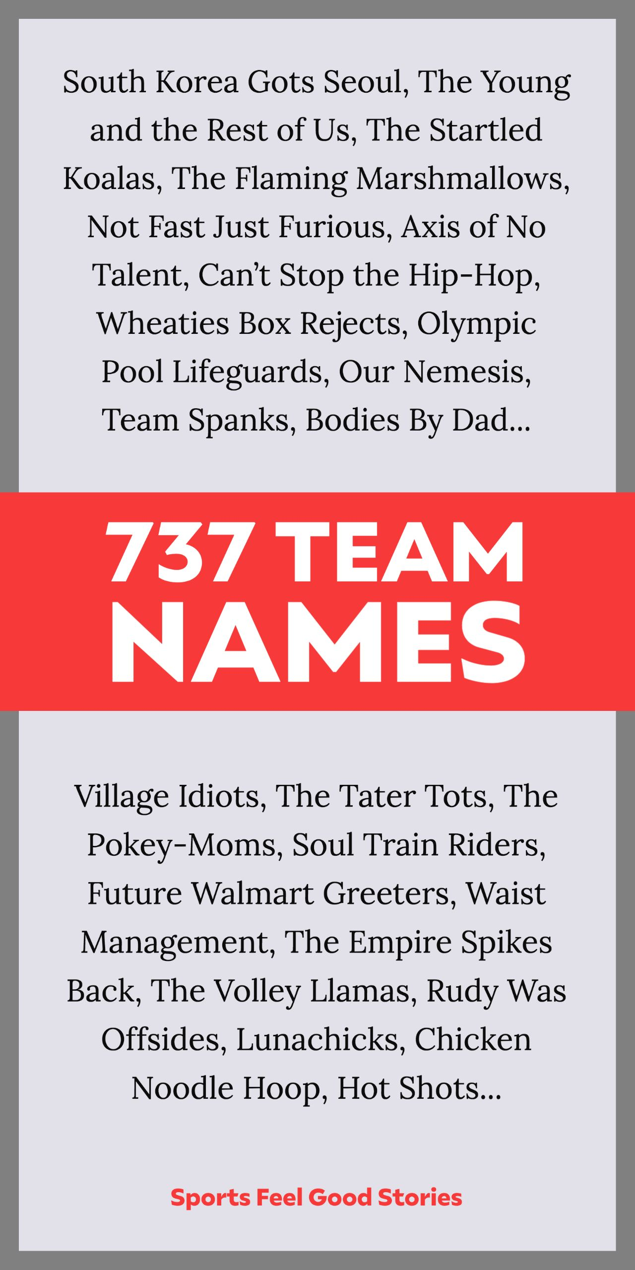 737 Best Team Names For Sports Work Play Sports Feel Good In 2020 Team Names Best Team Names Names