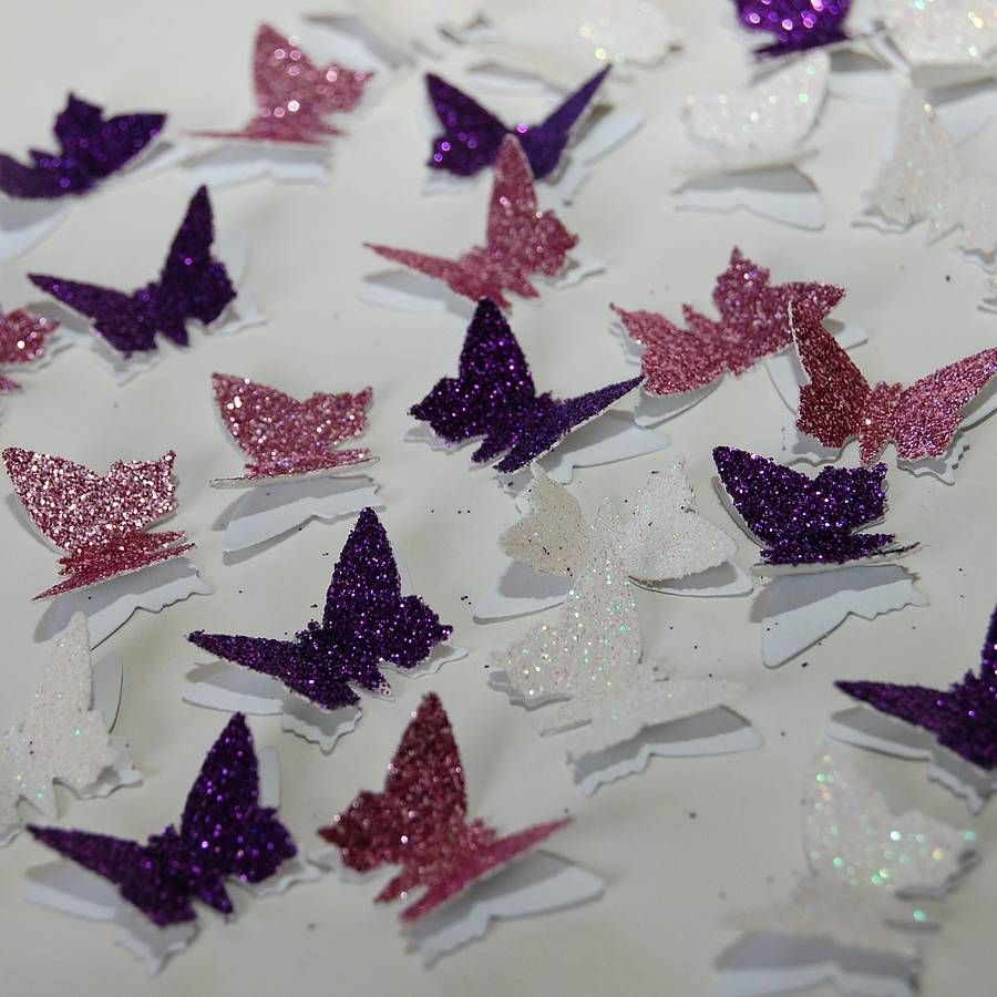 3D Glitter Butterfly Table Confetti Table decorations Decoration