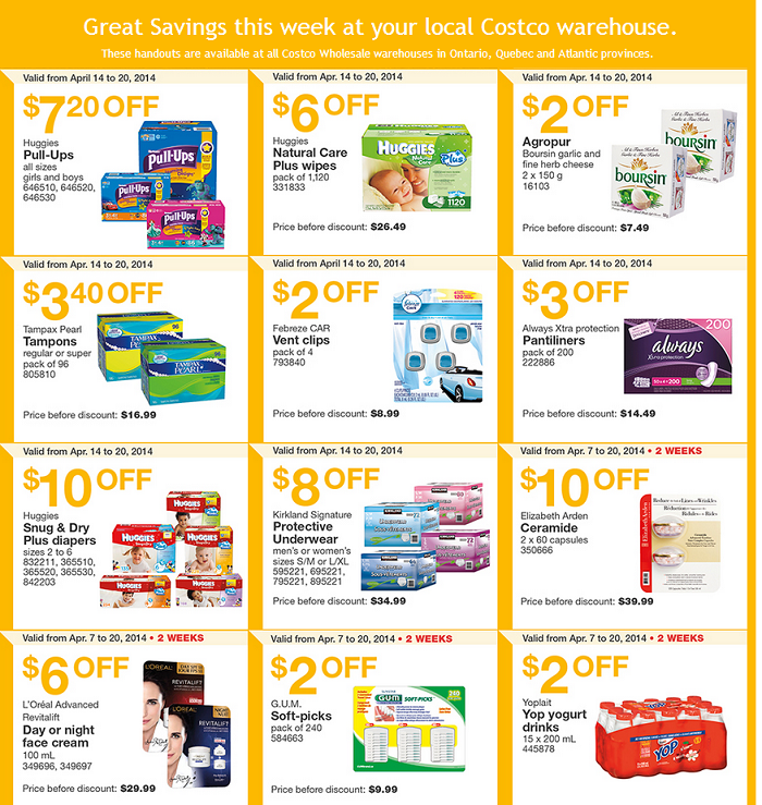 Costco Canada Coupons Weekly Store Savings Coupons Coupons Canada Canadian Coupons