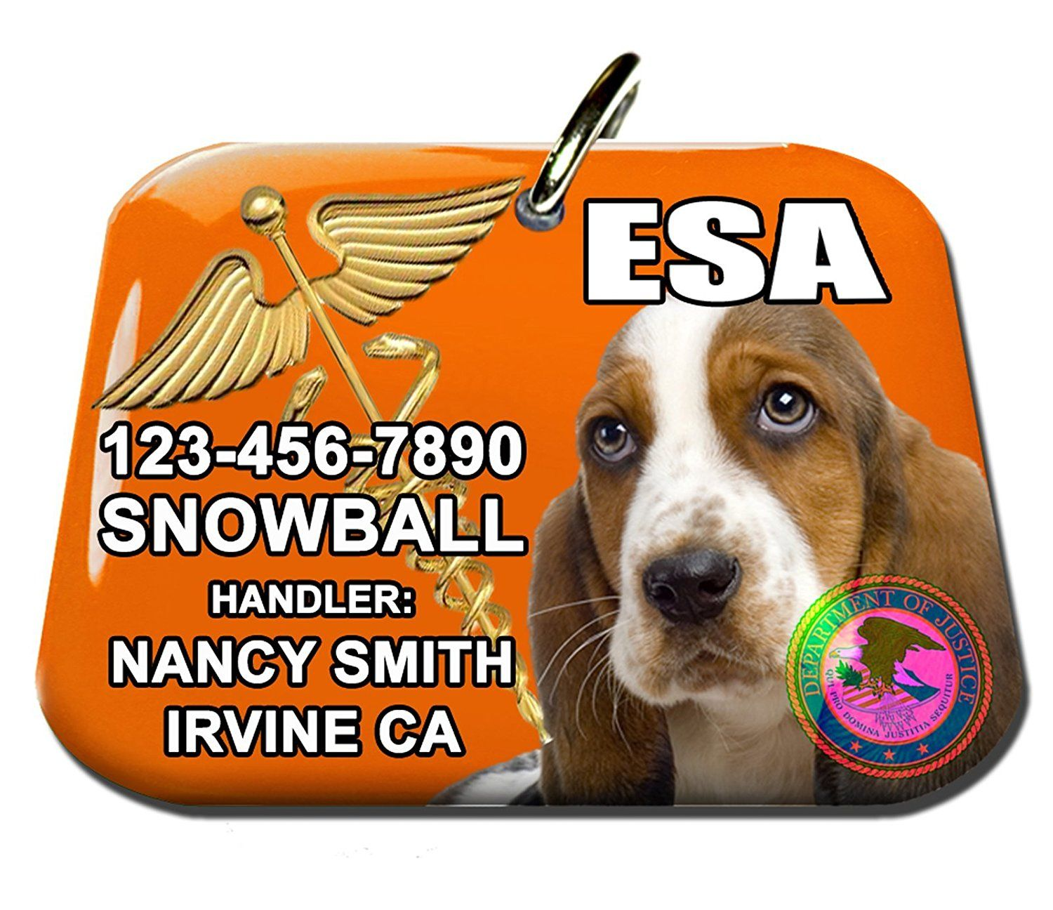 ESA Emotional Support Animal Large Identification Tag and