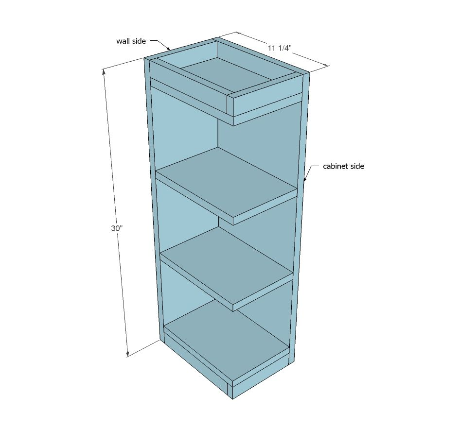 Kitchen Cabinet End Shelf: Open Shelf End Wall Cabinet