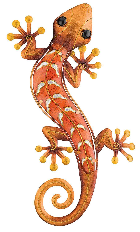 copper gecko southwestern metal wall art garden wall on metal wall art id=34273