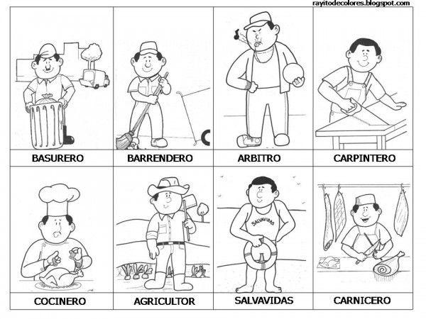 Rayito De Colores Dia Trabajo 9 Profesiones Para Ninos Oficios Y Profesiones Oficios Y Profeciones