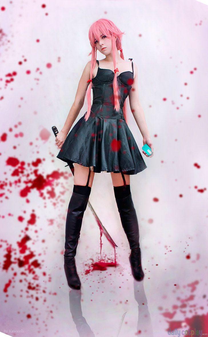 Future Diary Mirai Nikki Gasai Yuno Black Daily Dress Cosplay Costume,Any Size