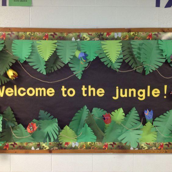 Jungle board. Welcome back to school!: