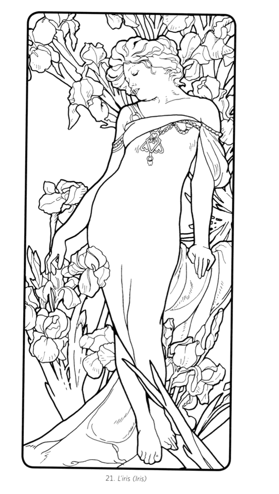 - Pin By Alfredo Dominguez On Coloring Mucha Art, Alphonse Mucha Art,  Coloring Pages