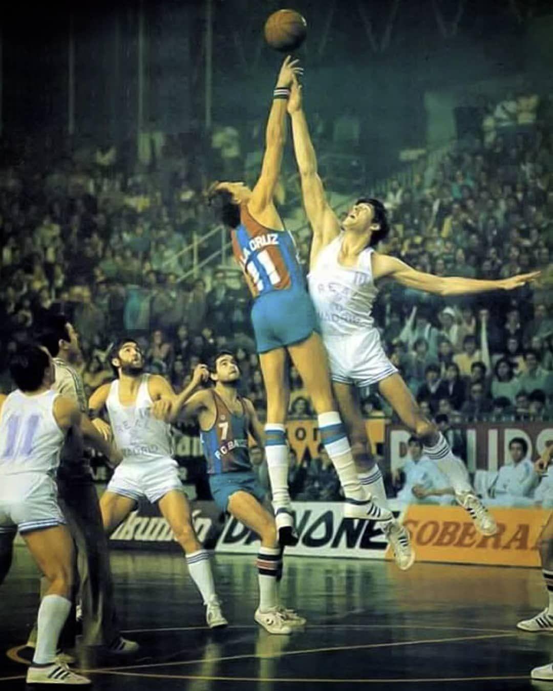 Real Madrid Vs Fcb 81 82 Feranado Martin J D De La Cruz Baloncesto Liga Acb Deportes