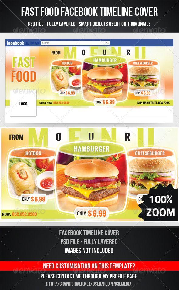 Fast Food Facebook Timeline Cover Psd Print Templates Facebook