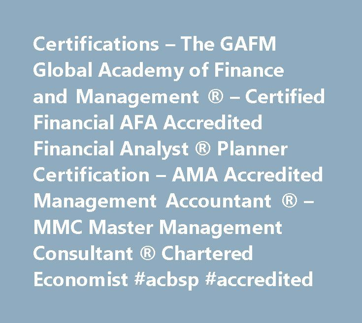 Certifications The Gafm Global Academy Of Finance And Management