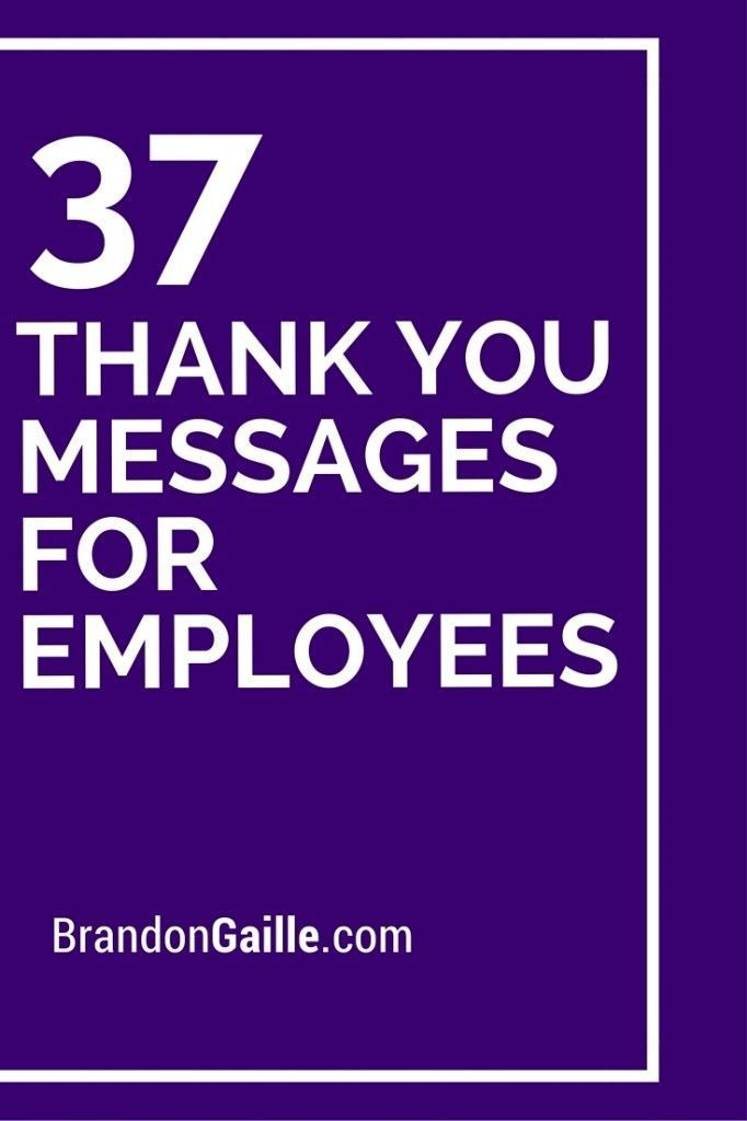 Thank You Messages For Employees  Appreciation Employee