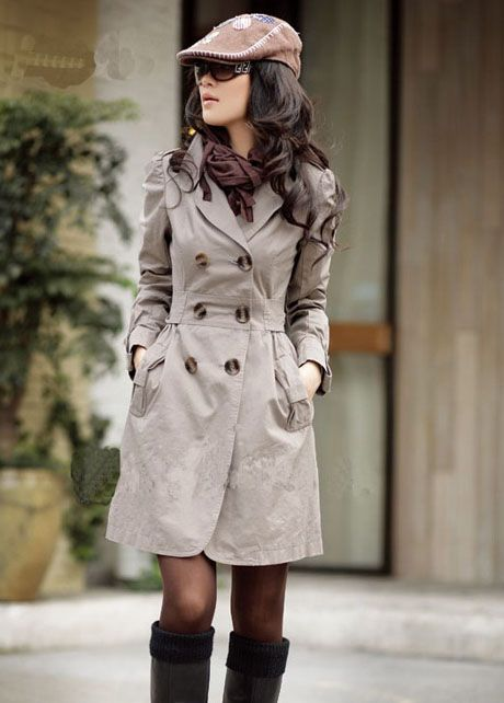 Fashion Essential Woman Cotton Blend Trench Coat - Grey 5d519b319f2