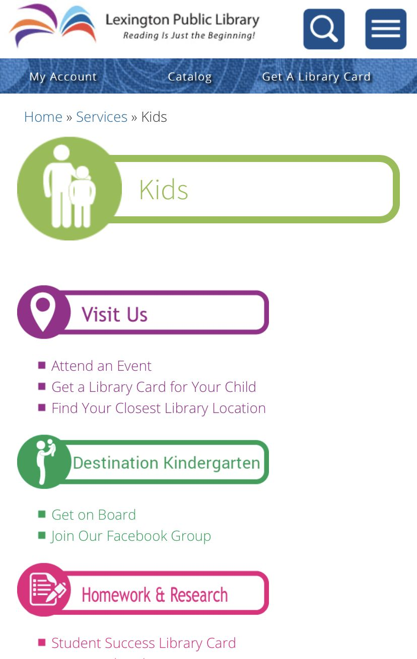 Kids Lexington Public Library in 2020 New children's
