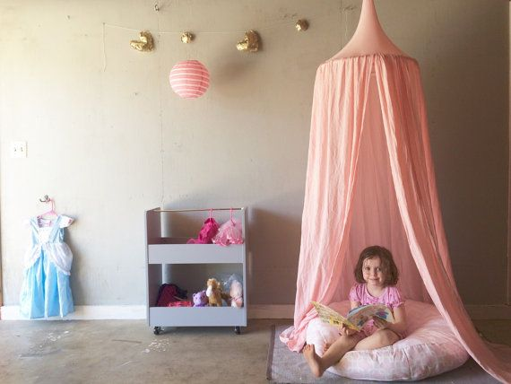 Princess Play Tent Canopy Blush Pink 1 Hanging by bluehousejoys & Reserved for Clarissa- Princess Play Tent -Canopy -light pink - 1 ...