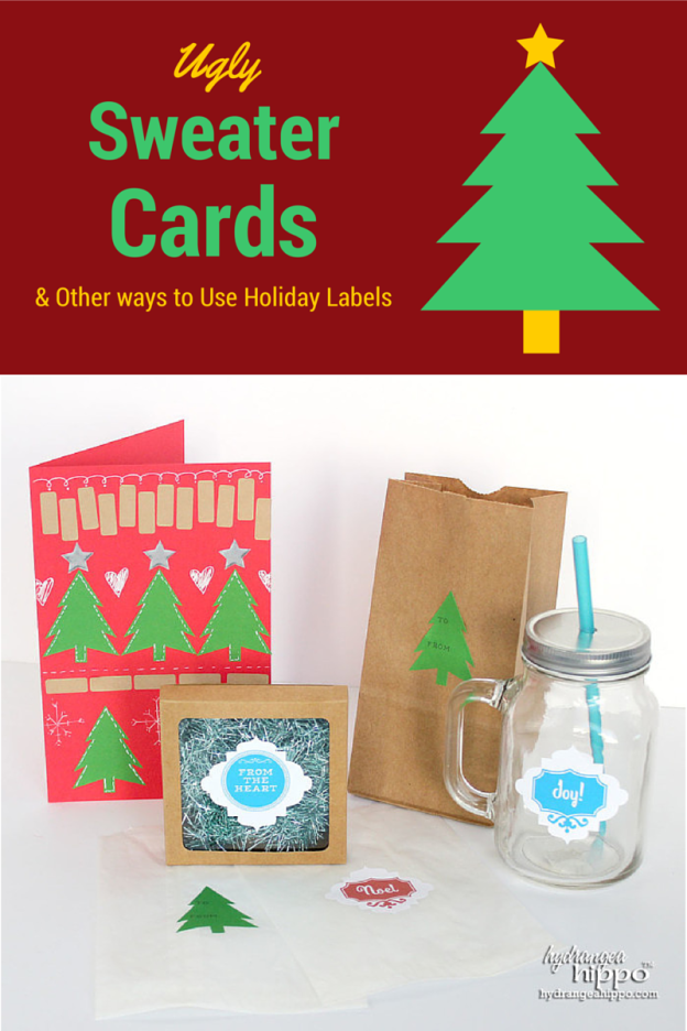 Ugly Sweater Christmas Cards + Free Holiday Printables | Free Label ...
