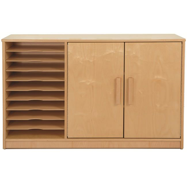 Birch Plywood Art And Paper Storage Cabinet With Nine Open Shelves Made In The Usa