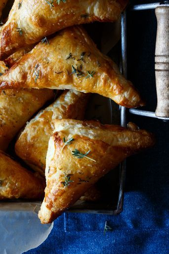 Photo of Havarti, Pear and Walnut Puffed Pastry Bites – (Free Recipe below)
