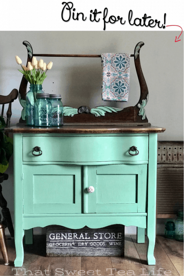 Antique Wash Stand goes from ready for the dump to Farmhouse chic Antique Wash Stand goes from ready for the dump to Farmhouse chic Jeanie jeanieshumock Chalk painting Di...