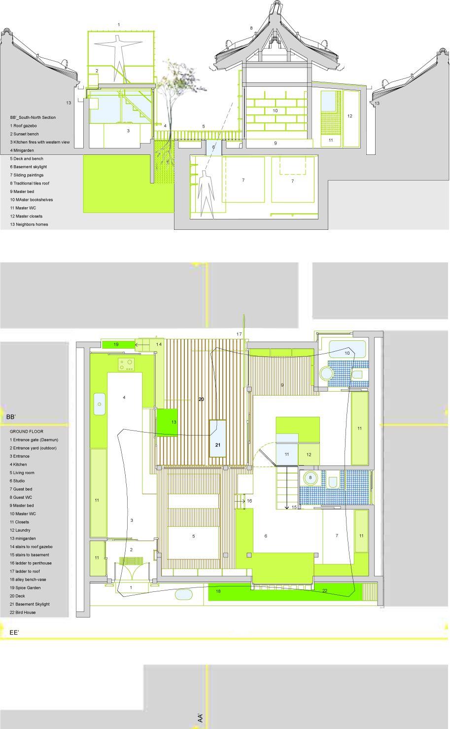 Korean house layout | House plans and ideas | Pinterest | House ...
