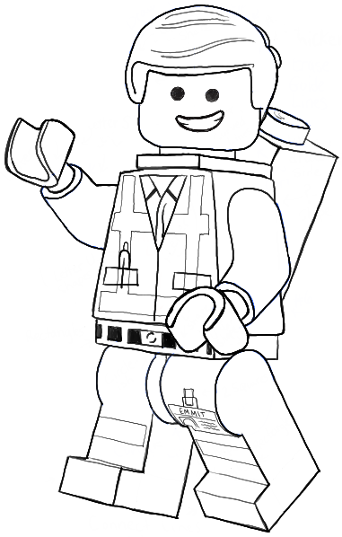 emmett lego movie coloring pages - photo#14