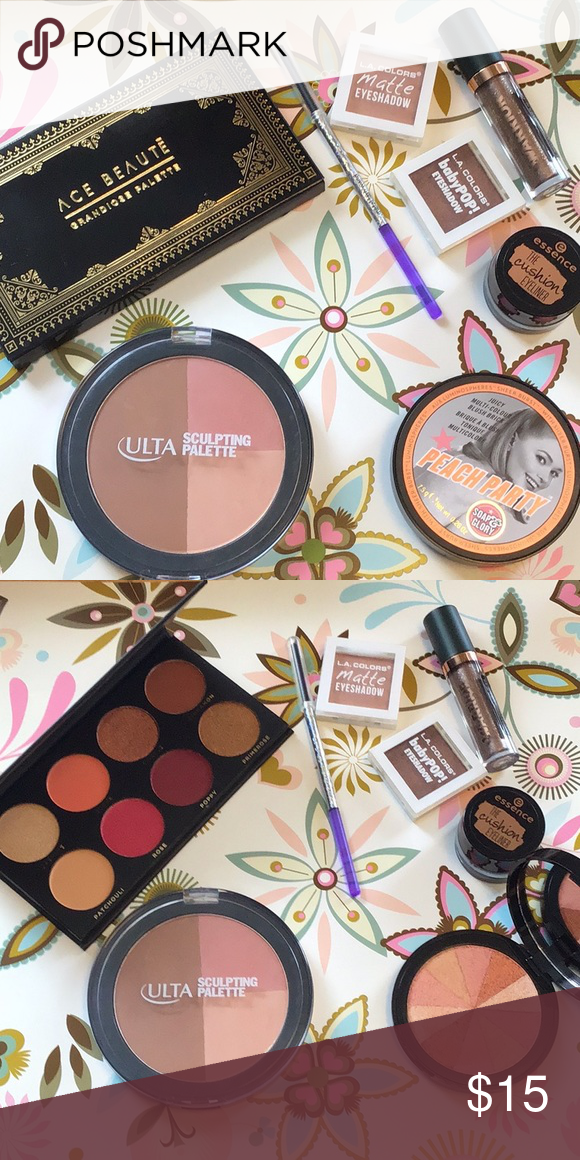 Makeup bundle Ace Beaute eyeshadow palette, Soap &Glory