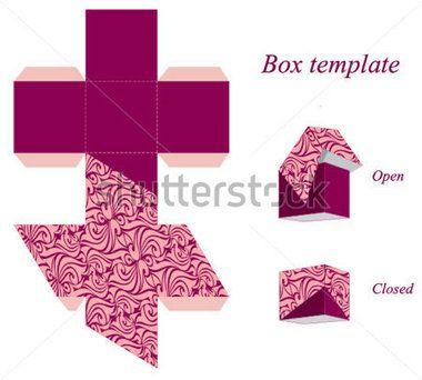 Intéressant modèle de boîte carrée avec couvercle et modèle sans couture. Illustration vectorielle.
