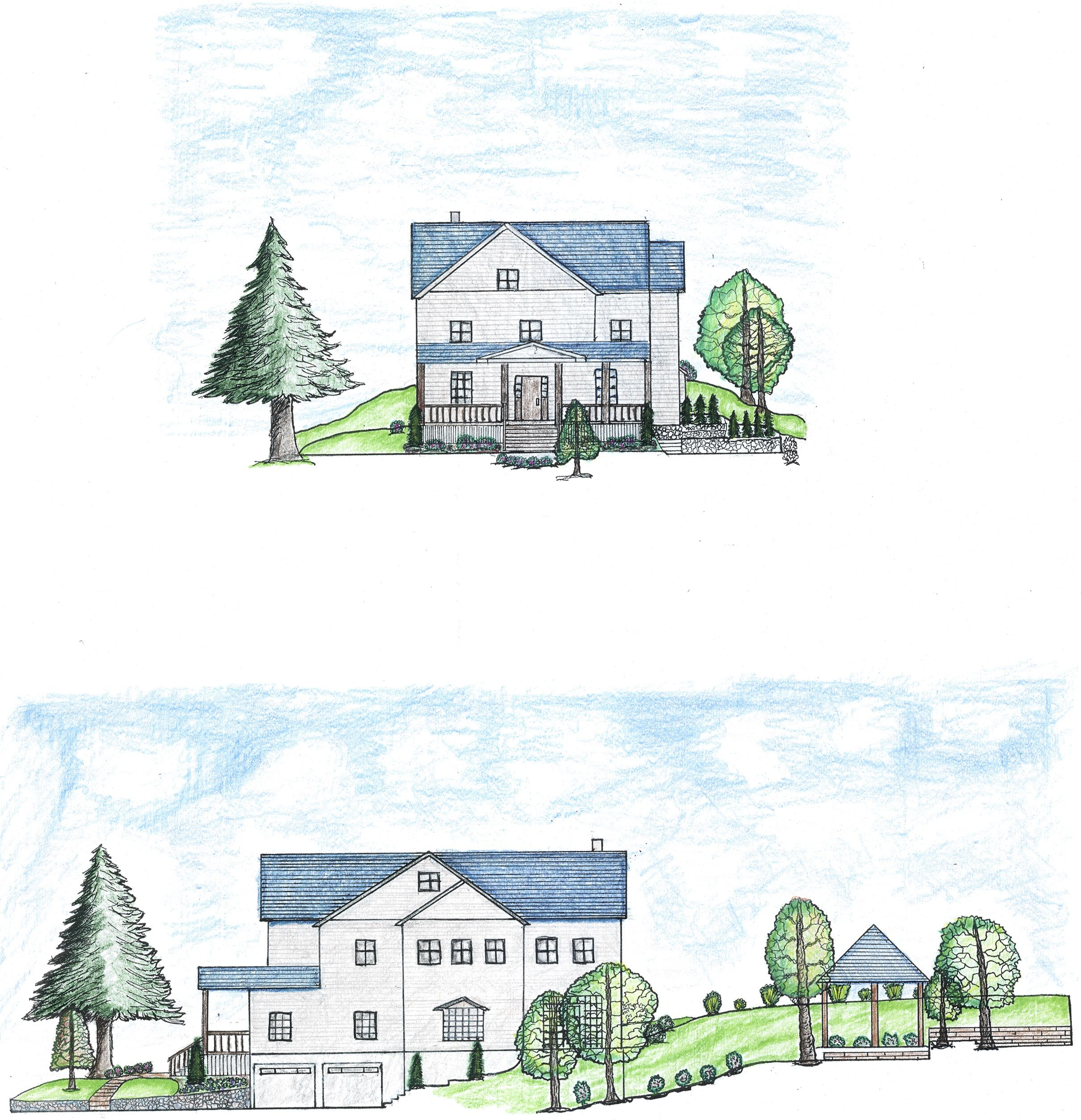 Landscape Section-elevation Residence | Landscape Plans and Drawings ...
