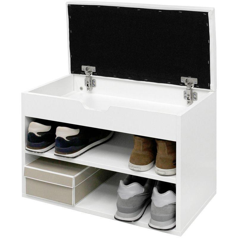 Meuble A Chaussures Meubleachaussuresentree Banc De Rangement Armoire A Chaussures 60 X 30 X 43 Cm Blanc Meuble D Entree Ecd Germany Shoe Rack Home Shoes