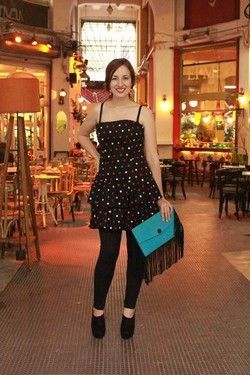 Vintage Special Moments Black strapless polka dot Dress!