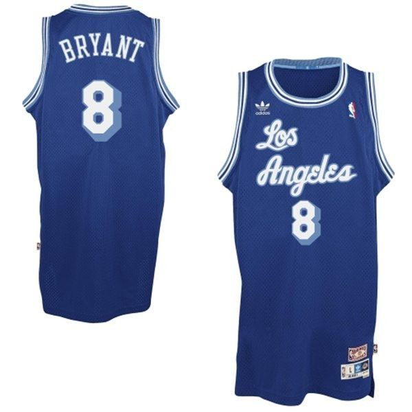 new arrival 909ce 255e3 Los Angeles Lakers Kobe Bryant #8 Throwback Away Blue Jersey ...