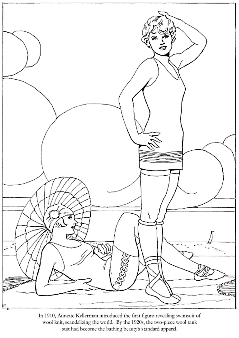 Fashions of the Roaring Twenties Coloring Book, Dover Publications