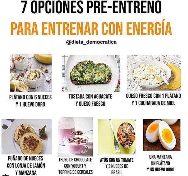 desayunos saludables para antes de entrenar