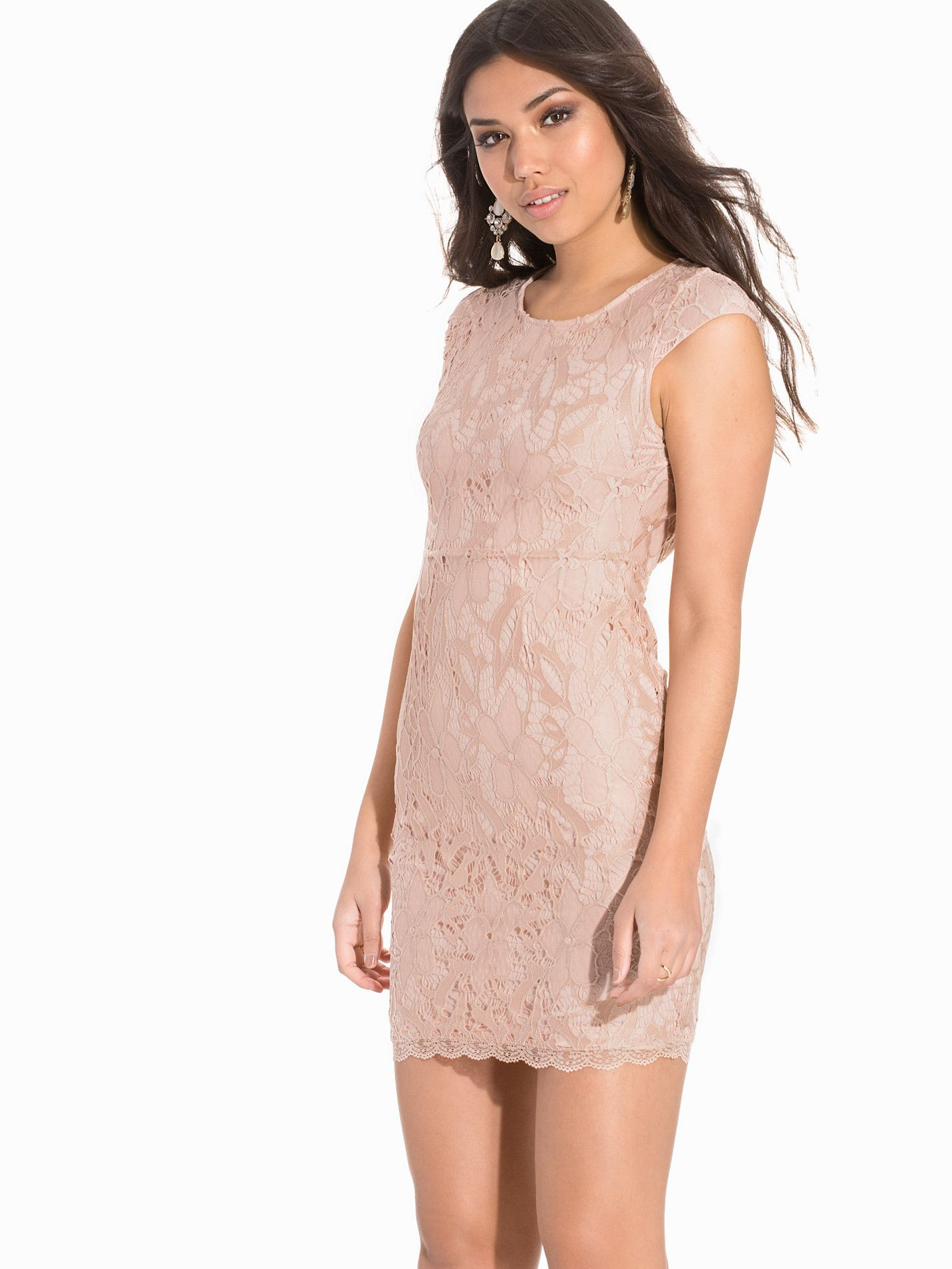 Vmlale S/S Lace Short Dress Dr4 - Vero Moda - Vaalea Pinkki - Juhlamekot - Vaatteet - Nainen - Nelly.com