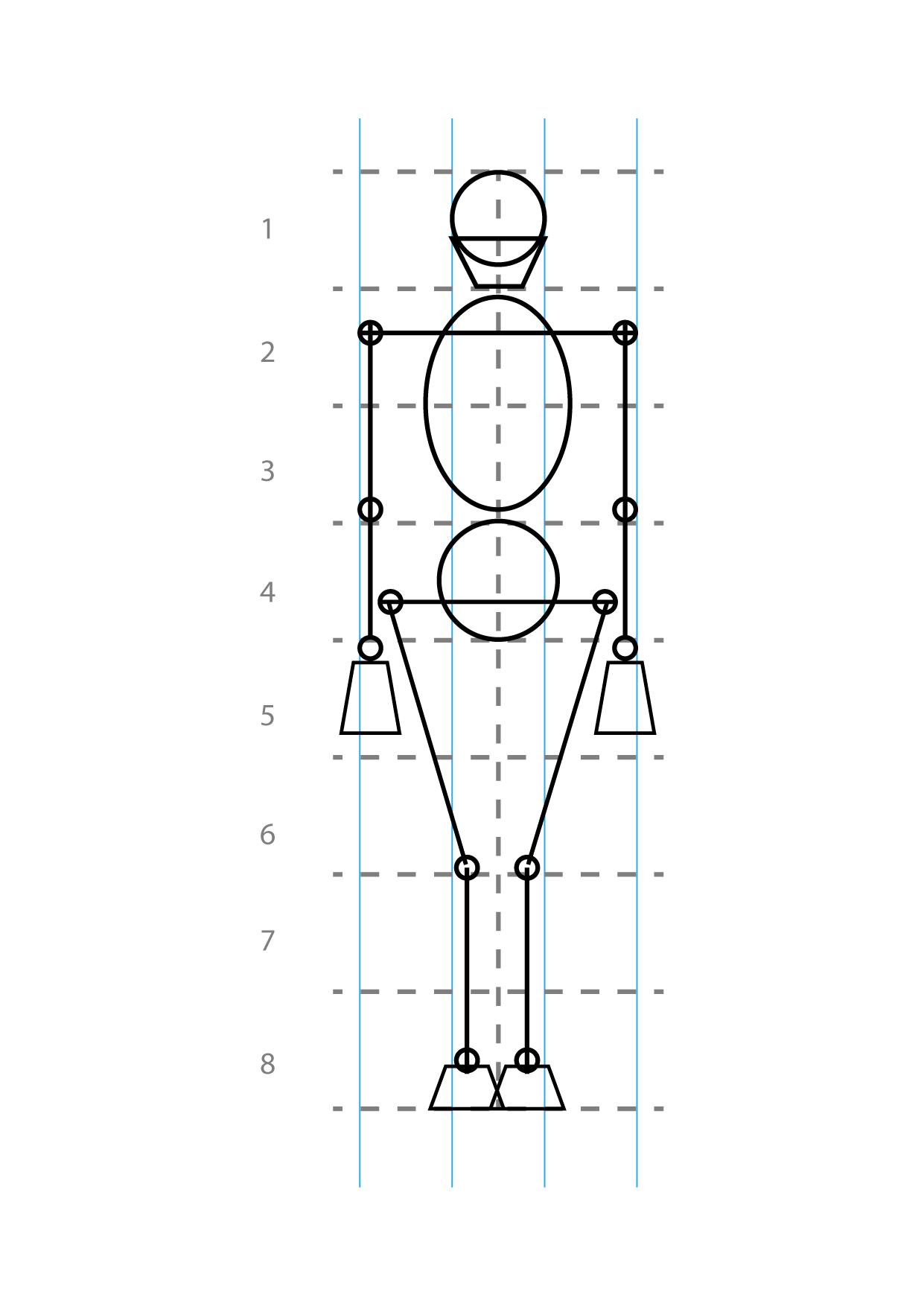 Estructura Y Proporciones De La Figura Humana De Frente Como Dibujar Cuerpos Figuras Humanas Dibujo Paso A Paso