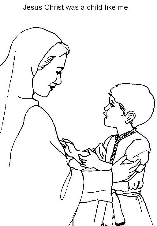 Coloring Pages About Jesus As A Boy