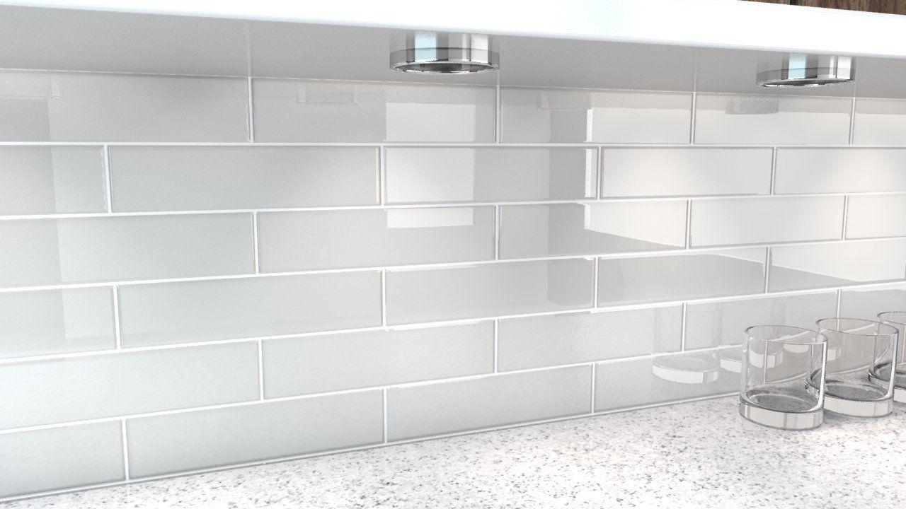 Pin By Braidi Fredrickson On Bathrooms White Glass Tile Gray