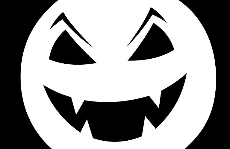 scary jack o lantern template  jack o lantern stencils Scary Easy for kids Kindergarten in ...