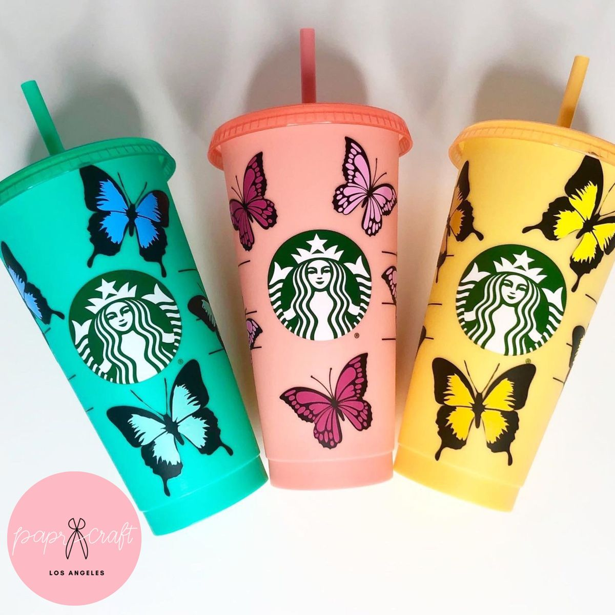 Starbucks Tumbler | Color Changing Tropical Butterfly Starbucks color Changing cup Butterflies New Color cups Butterfly cup