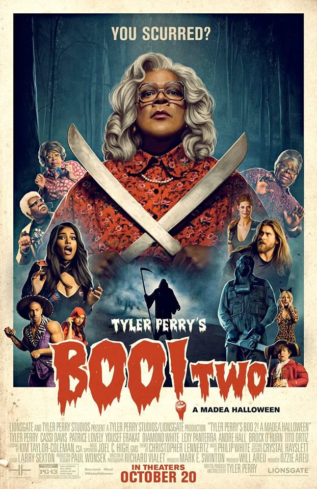 Tyler Perry's Boo 2! A Madea Halloween (2017) Madea, Bam, and ...
