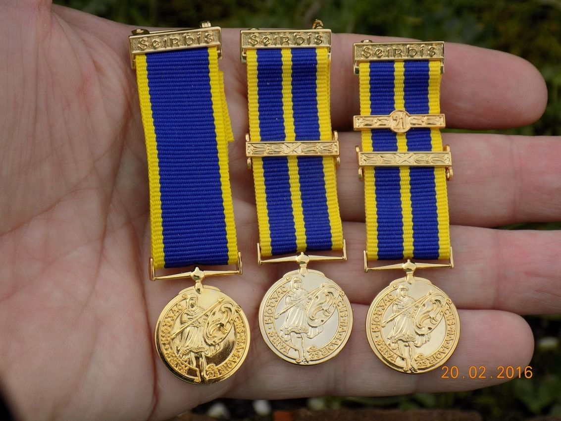 Irish Army FCA 3 (Three) Service miniature medals in Collectables