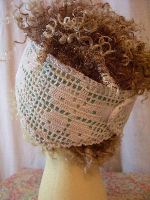 Vintage Crochet Reversible Ear Warmer  Aqua by EverydayGrey, $21.00