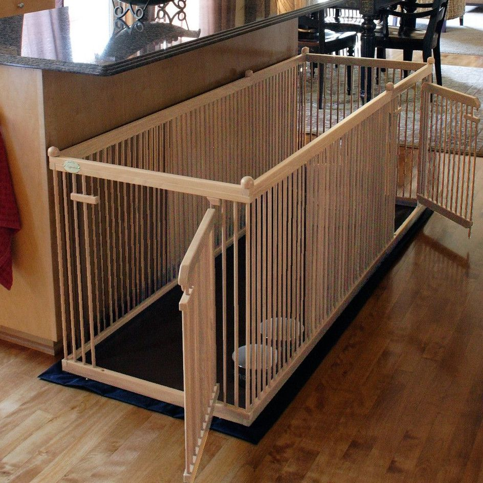 Maple Dog Pen ~ Indoor dog pen made from solid maple, chew ...